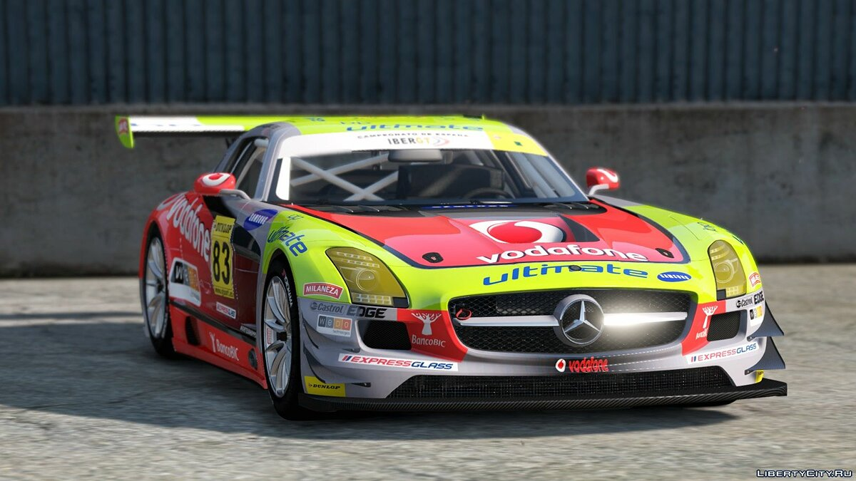 Mercedes Benz SLS AMG GT3 [Add-On | Replace | Livery | Template] 2.0 для GTA 5 - скриншот #4