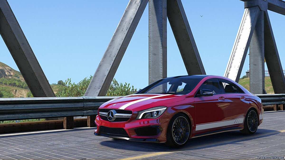 2014 Mercedes-Benz CLA 45 AMG Coupe [Add-On / Replace | Livery | HQ] 1.0 для GTA 5 - скриншот #6