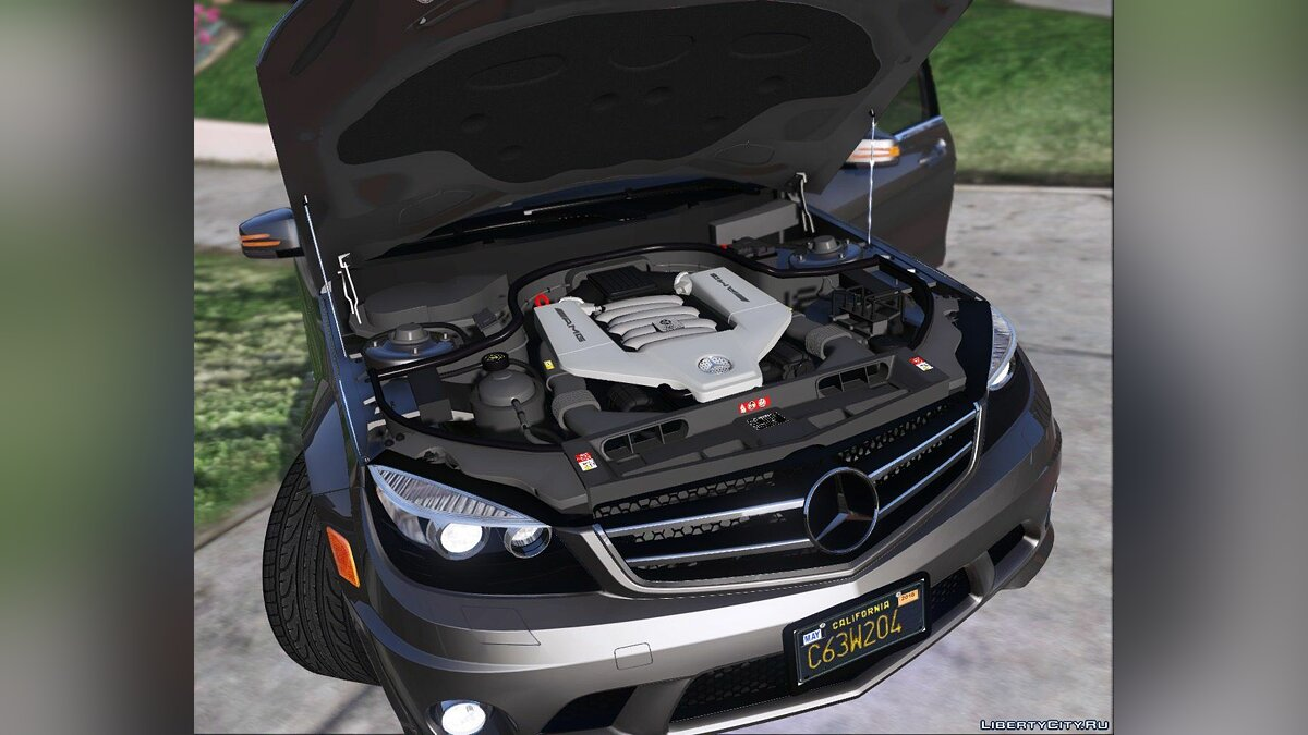 2014 Mercedes-Benz C63 AMG W204 [Add-On / Replace | Tuning] 1.0 для GTA 5 - скриншот #5
