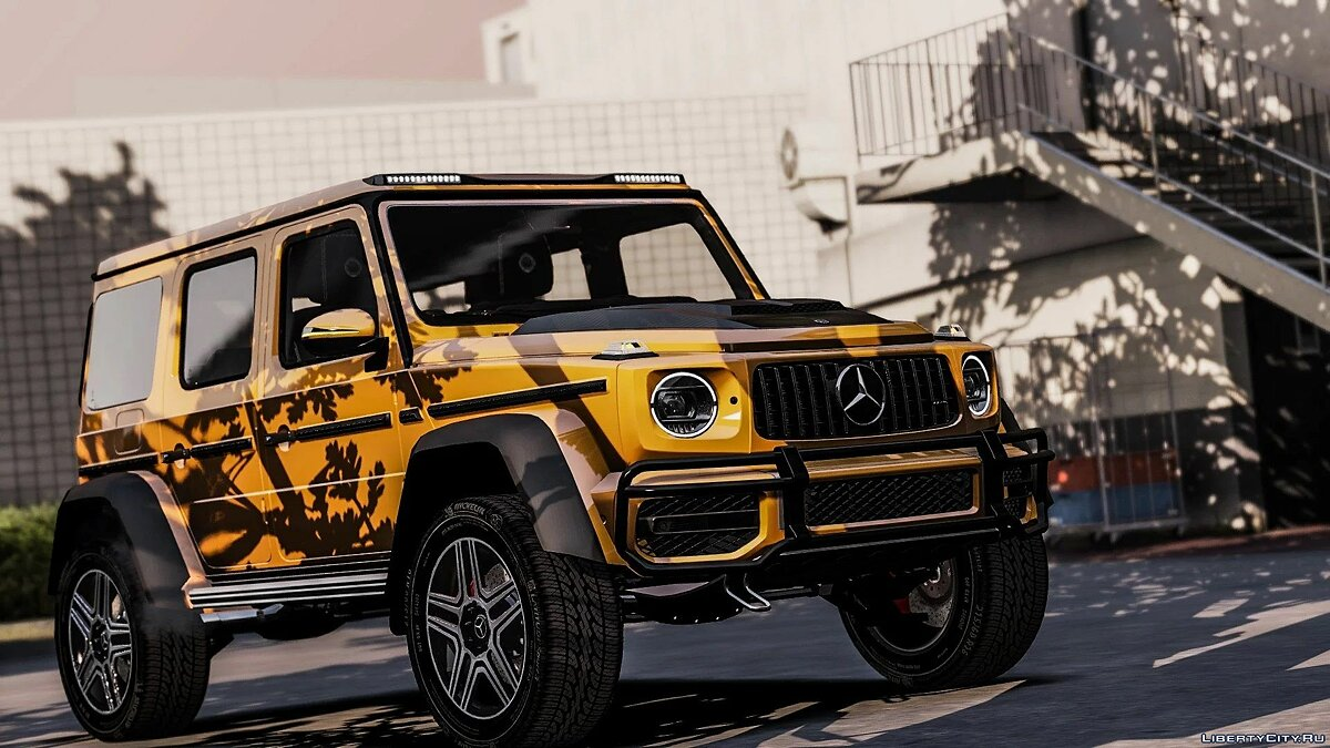 Машина Mercedes-Benz 2019 Mercedes Benz G63 4X4 [Add-On / ENGINE] для GTA 5