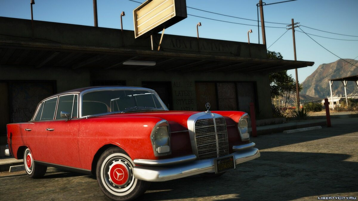 Машина Mercedes-Benz 1964 Mercedes Benz 220s W111 [Add-On | LODs] 1.01 для GTA 5