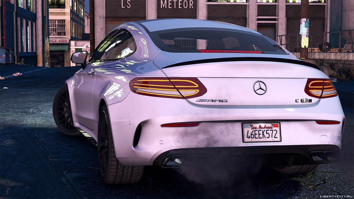 ��ашина Mercedes-Benz 2016 Mercedes C63 AMG S Coupe [Add-On | Replace | OIV / Animated | Analog / Digital Dials] 1.1 для GTA 5