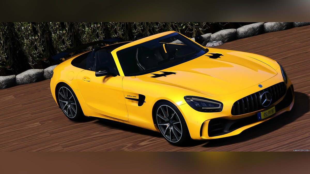 Машина Mercedes-Benz 2020 Mercedes-Benz AMG GT-R Roadster [Animated Roof] [Add-On | Template] 1.0 для GTA 5