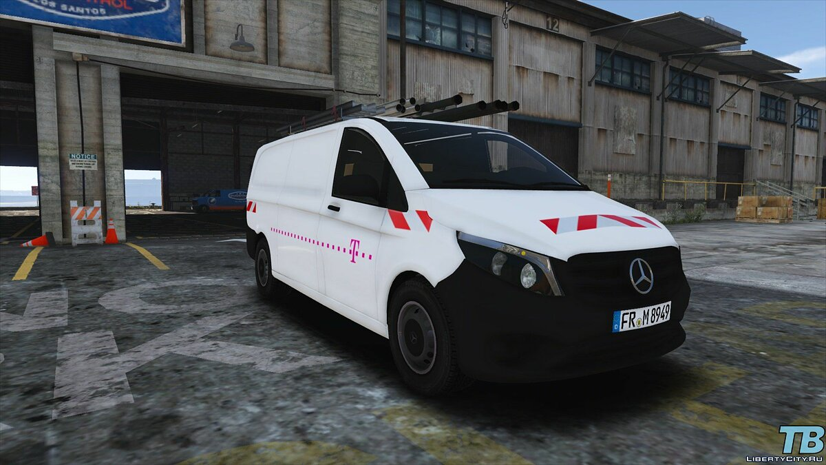 2017 Stock Mercedes Vito - Logistic Paintjobs 1.0 для GTA 5 - скриншот #4