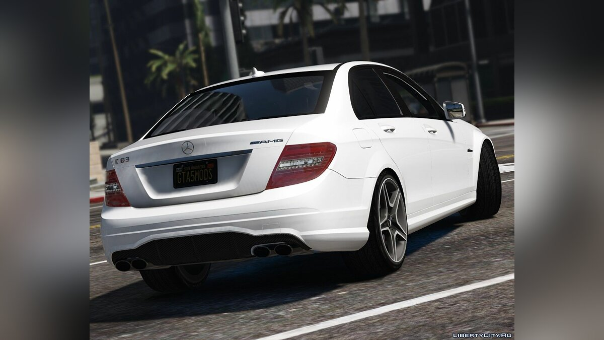 2011 Mercedes-Benz C63 AMG W204 [Add-On / Replace | Tuning | HQ] 1.4 для GTA 5 - скриншот #3
