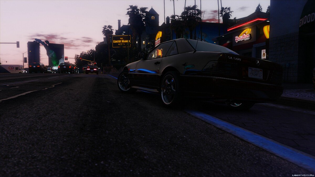 Mercedes-Benz SL500 1995 [Add-On / Replace] 1.4.2 для GTA 5 - скриншот #4