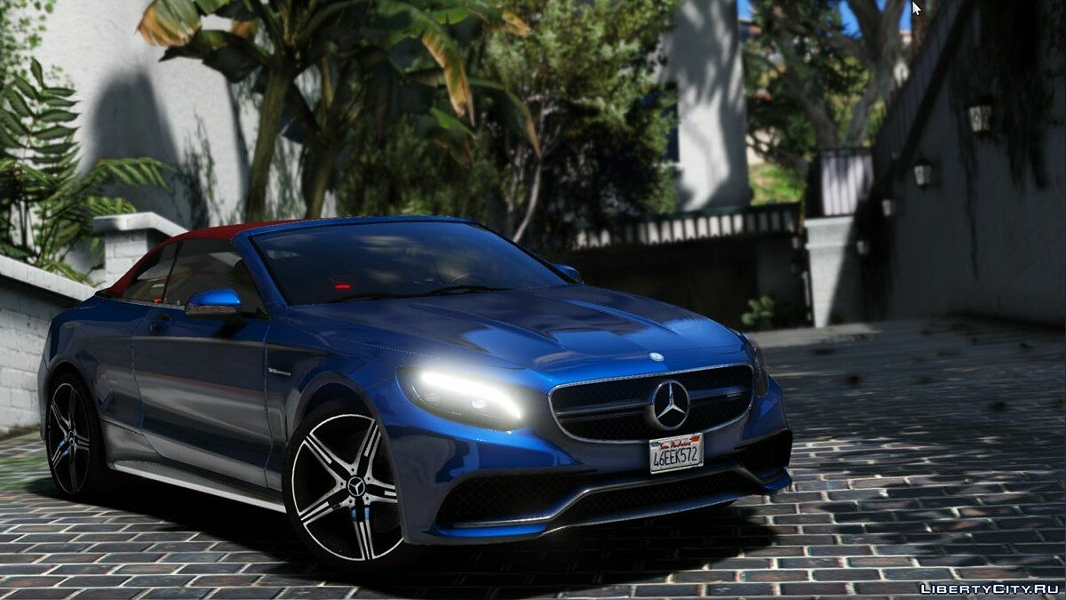 Машина Mercedes-Benz Mercedes S63 AMG Cabriolet [Add-On / Replace] 1.1 для GTA 5