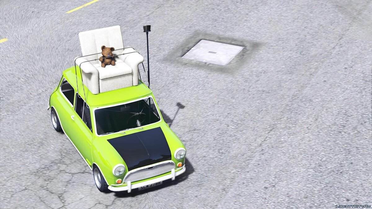 Mr. Bean Mini Cooper [Add-On / Replace] для GTA 5 - скриншот #5