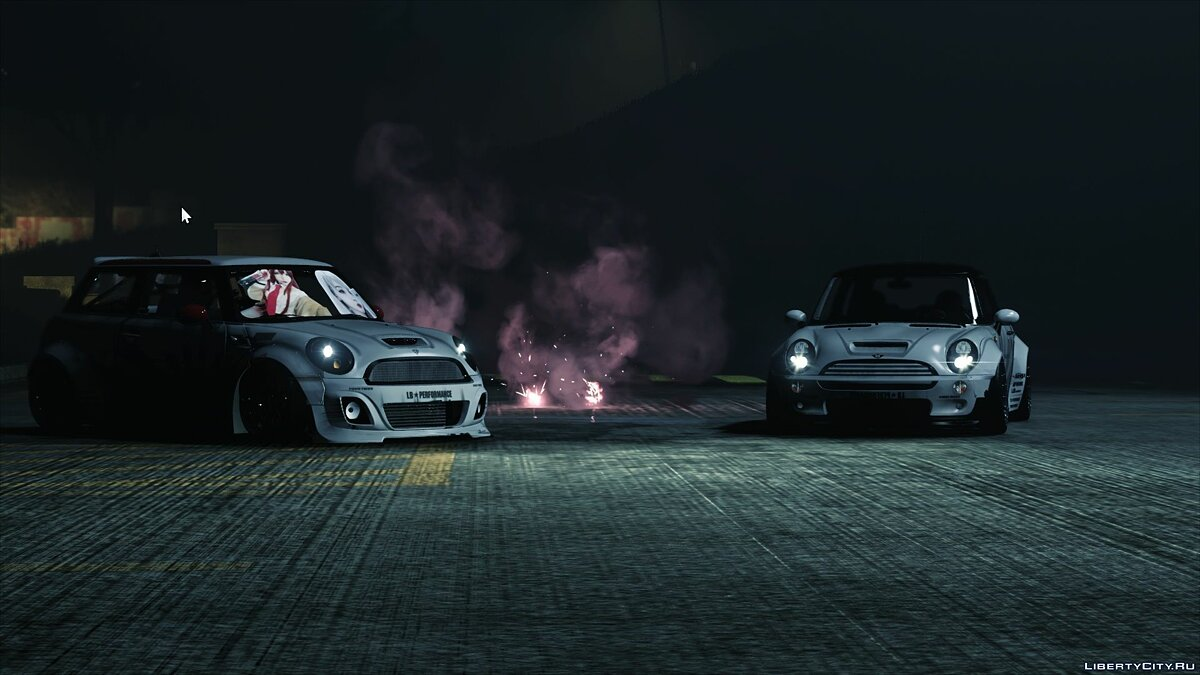 Машина Mini Mini Cooper R56 Liberty Walk [Add-On] 1.0 для GTA 5