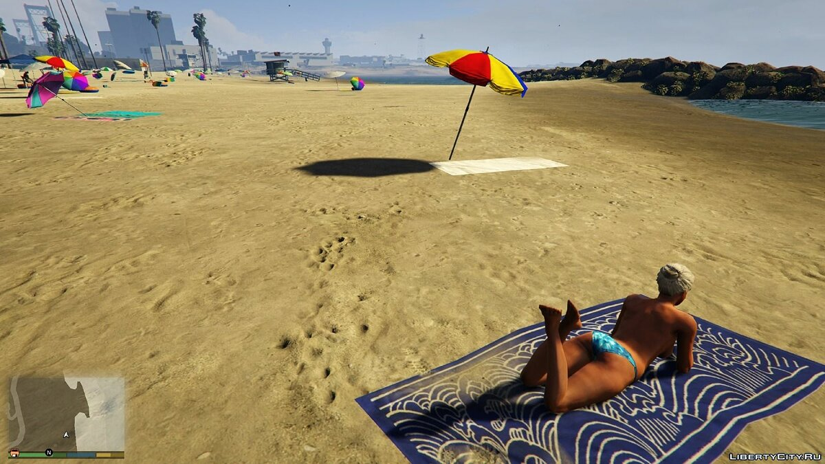 Нудистский Пляж / Nude Beach Girls (18+) для GTA 5 - Картинка #3