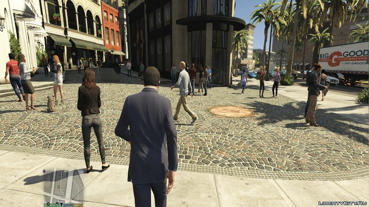 Realistic pedestrians and traffic mod V2.3 для GTA 5 - скриншот #5
