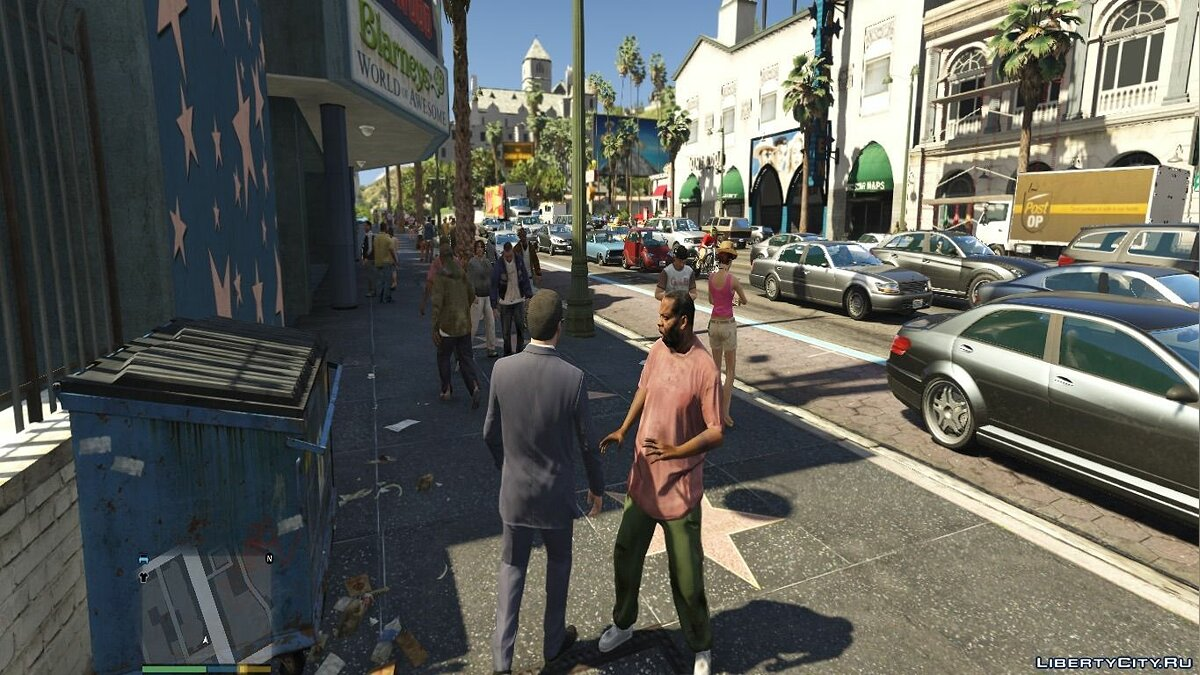 Realistic pedestrians and traffic mod V2.3 для GTA 5 - скриншот #6