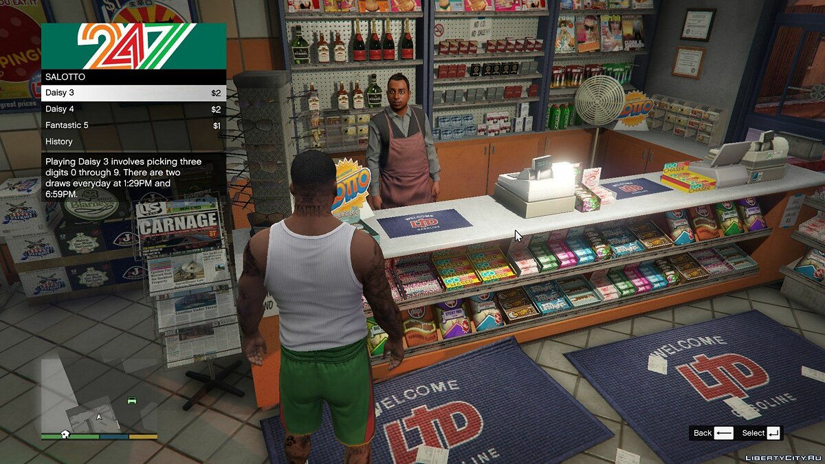 Мод San Andreas Lotto 1.4 для GTA 5