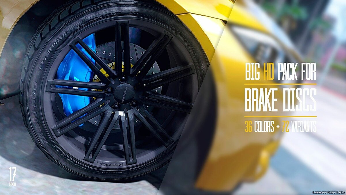 Big HD pack for brake discs (36 colors + 72 variants) v1.2 для GTA 5 - скриншот #12
