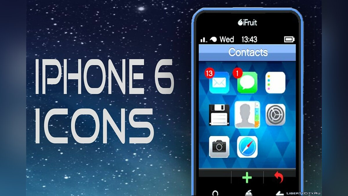 IPhone 6 Icons for iFruit V1 для GTA 5 - скриншот #3