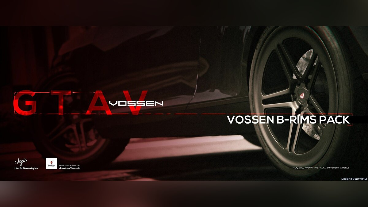 Vossen B-Rims Pack для GTA 5