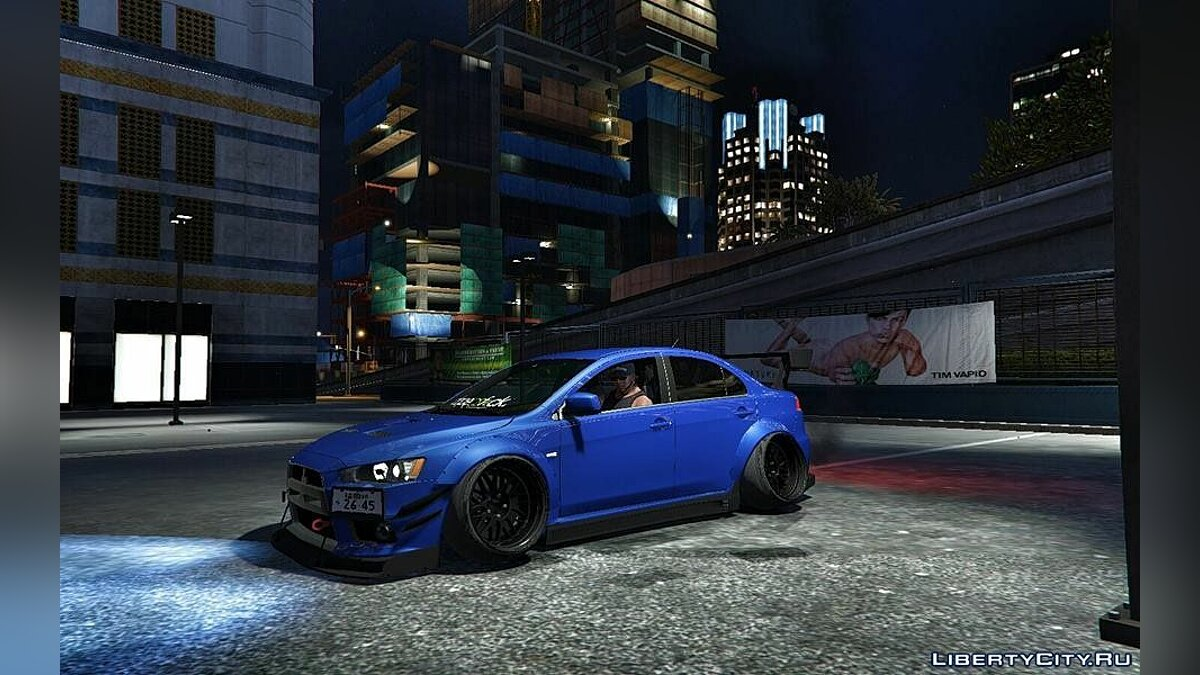 "Mitsubishi Evo X ""Wide and Low"" [Add-On / Replace] 1.1 для GTA 5"