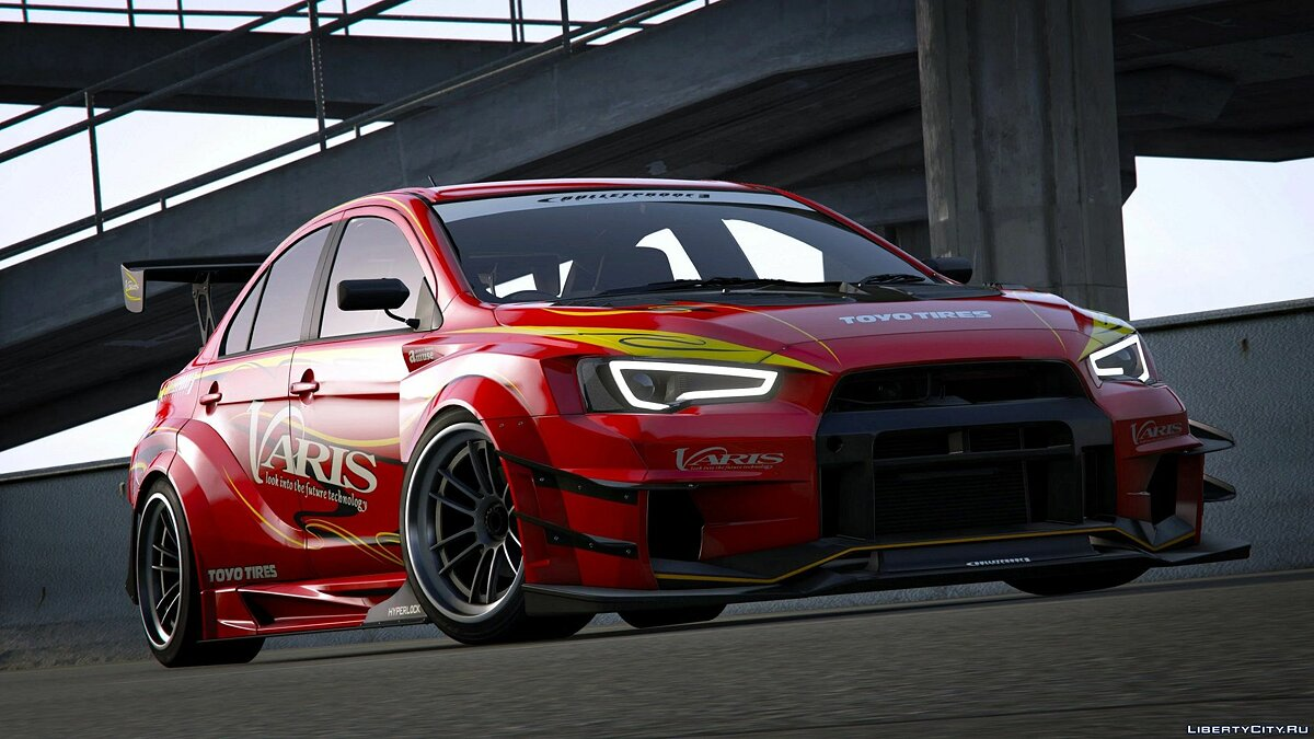 Машина Mitsubishi Mitsubishi Lancer Evolution X (CZ4A) (Varis | Team Orange) [Add-On | Template] 1.0 для GTA 5