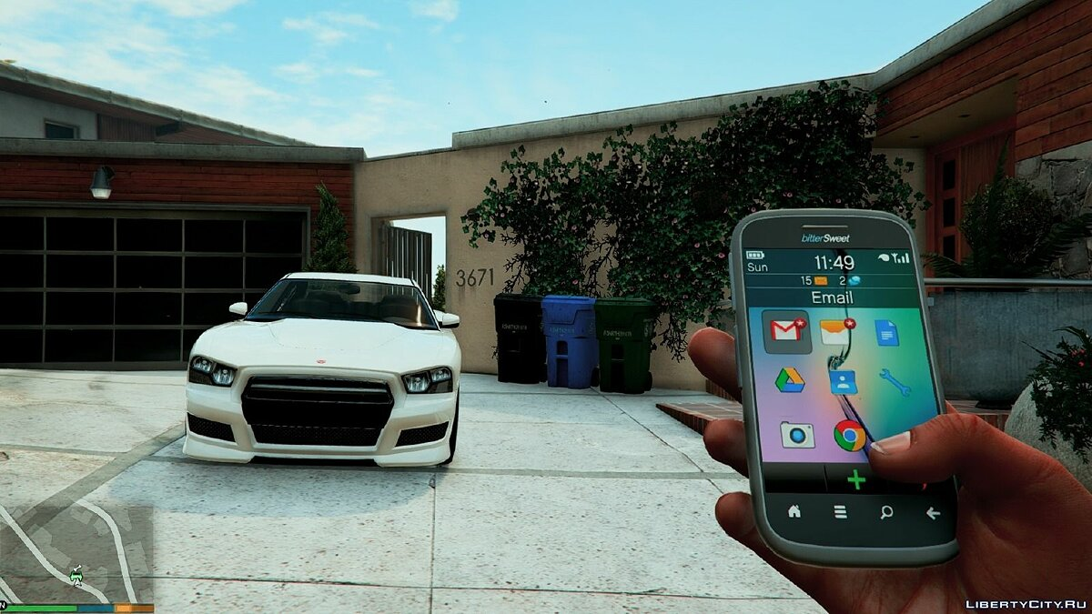 Мобильник Real Phones HD 1.0 для GTA 5