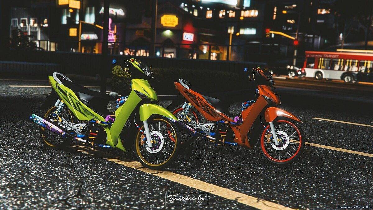 Мотоцикл Honda Wave125i 2010 [Replace] 1.0 для GTA 5