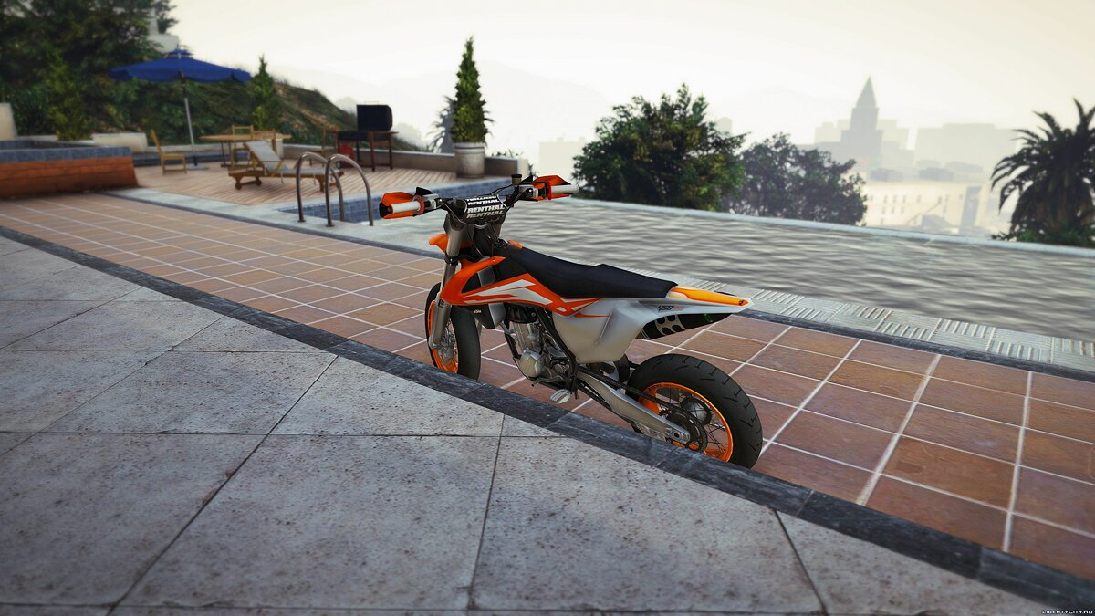 2016 KTM SX-F 450 Supermotard [Add-On] 1.0 для GTA 5 - скриншот #2