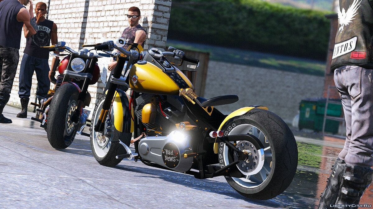 Harley-Davidson Fat Boy Lo Racing Bobber Lost MC Custom [Replace | Animated] 1.0 для GTA 5 - скриншот #2