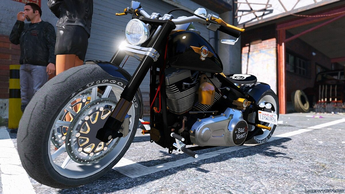 Harley-Davidson Fat Boy Lo Racing Bobber Lost MC Custom [Replace | Animated] 1.0 для GTA 5 - скриншот #8