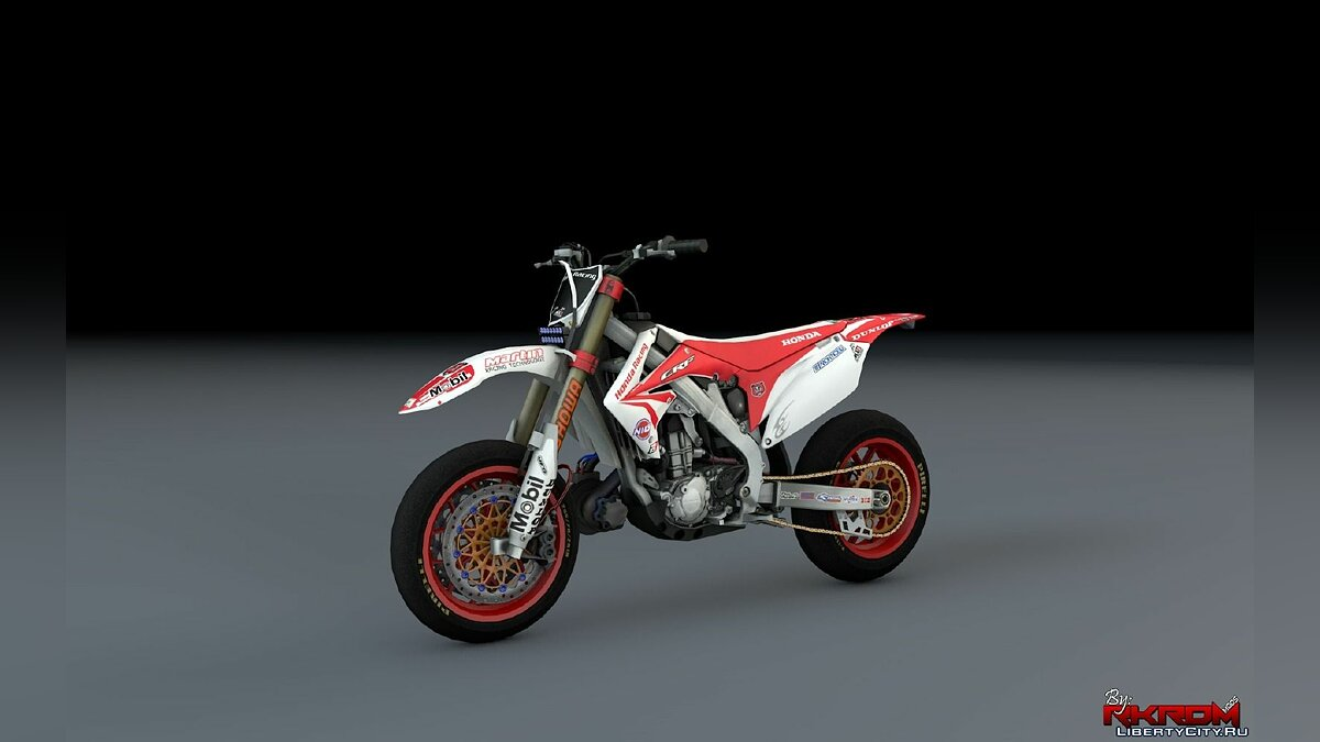 Мотоцикл Honda CRF 450 Turbo Motard для GTA 5