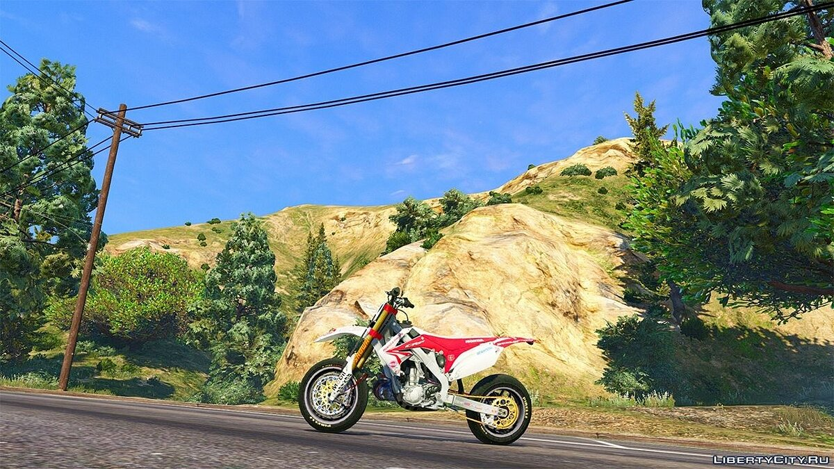 Honda CRF 450 Turbo Motard для GTA 5 - скриншот #3