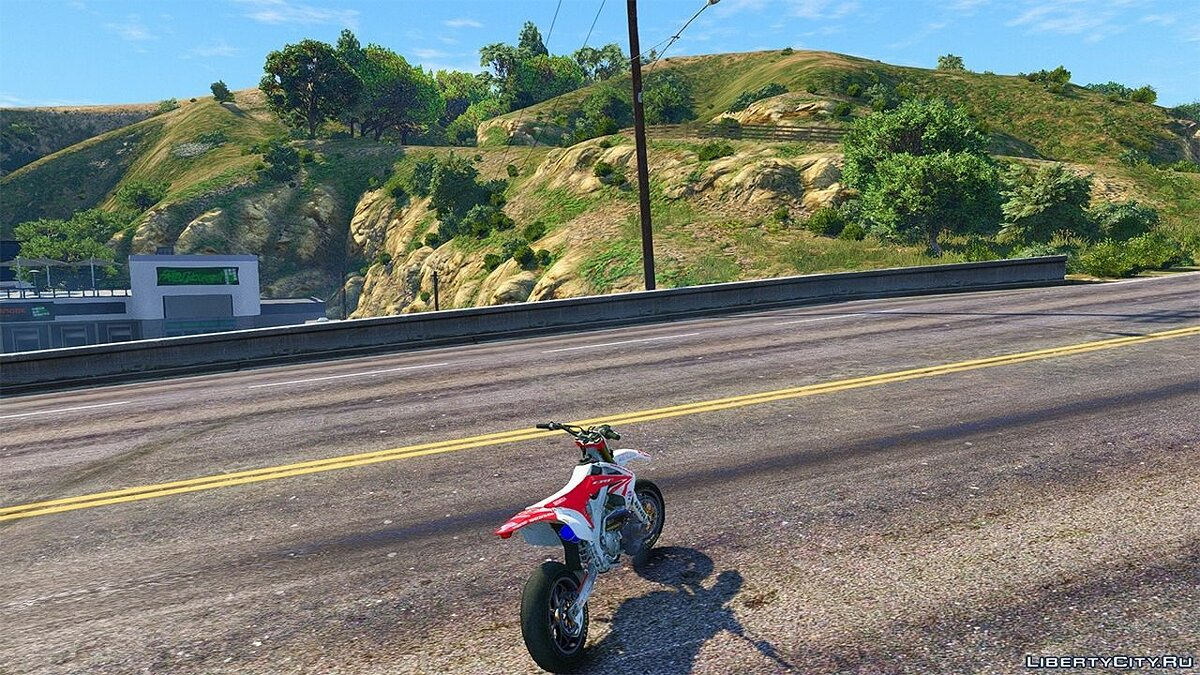 Honda CRF 450 Turbo Motard для GTA 5 - скриншот #6