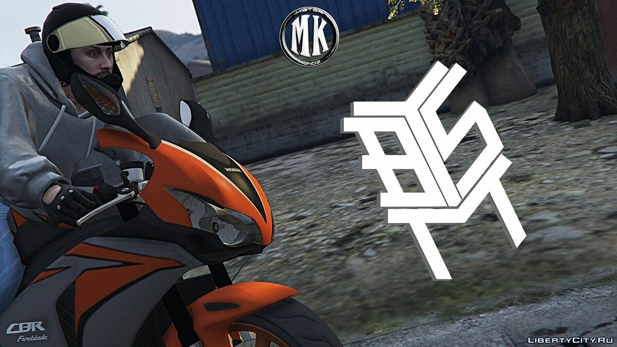 ��отоцикл Honda CBR1000RR Fireblade (Grey & Orange) для GTA 5