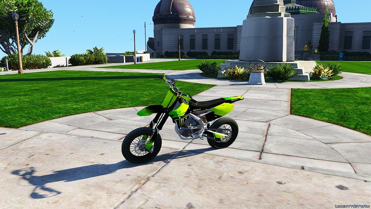 Yamaha YZ450F - Supermoto with Liveries (PSD Template) [Add-On] для GTA 5 - скриншот #3