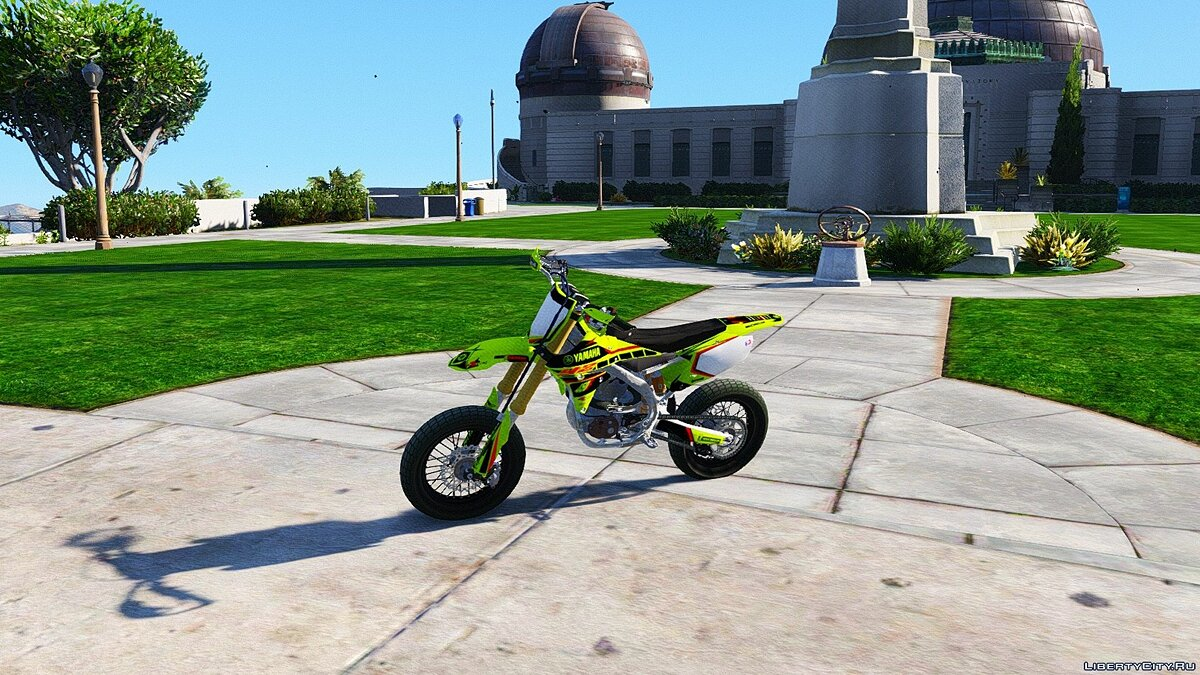 Yamaha YZ450F - Supermoto with Liveries (PSD Template) [Add-On] для GTA 5 - скриншот #2