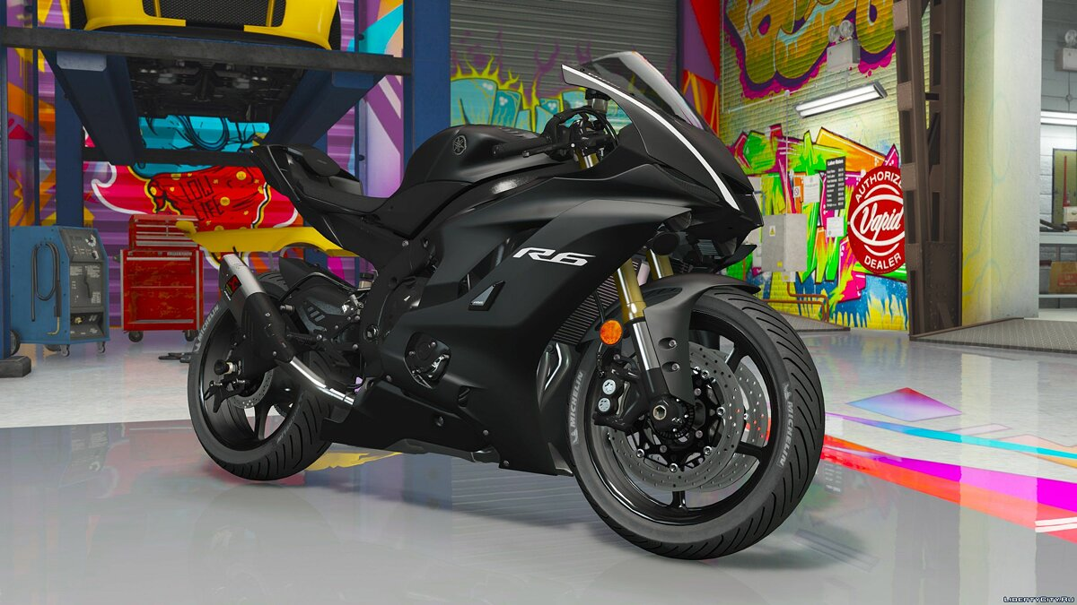��отоцикл Yamaha YZF R6 2017 [Add-On] для GTA 5