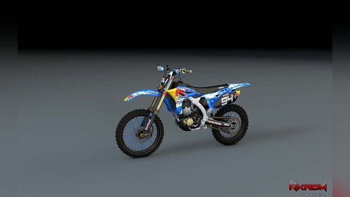 ��отоцикл Yamaha YZ250F - RedBull Graphics [Add-On] для GTA 5
