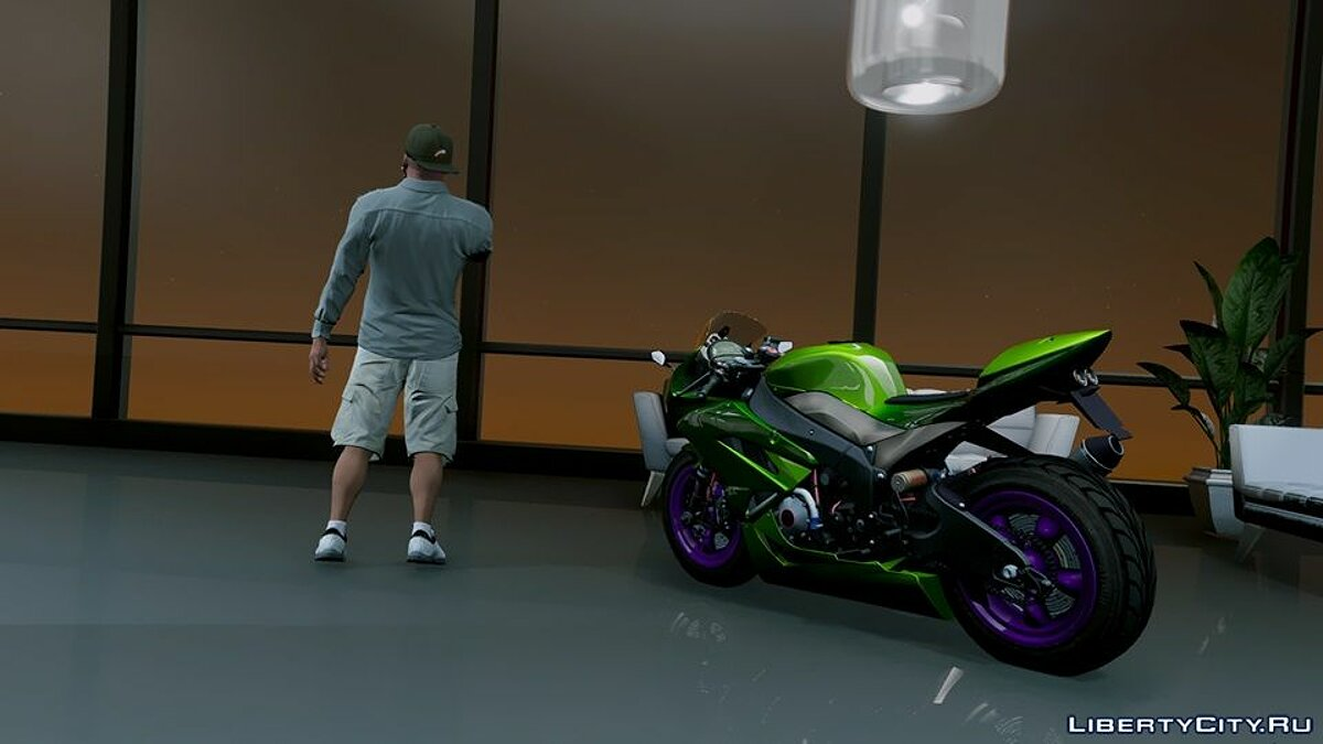 Kawasaki Ninja ZxR Modified v.1 для GTA 5 - скриншот #6
