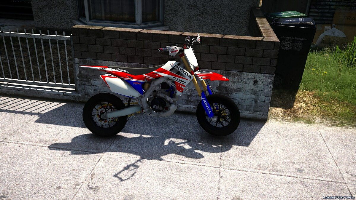 Honda CRF 450R Supermoto Special 2016 [Add-On] для GTA 5 - скриншот #3