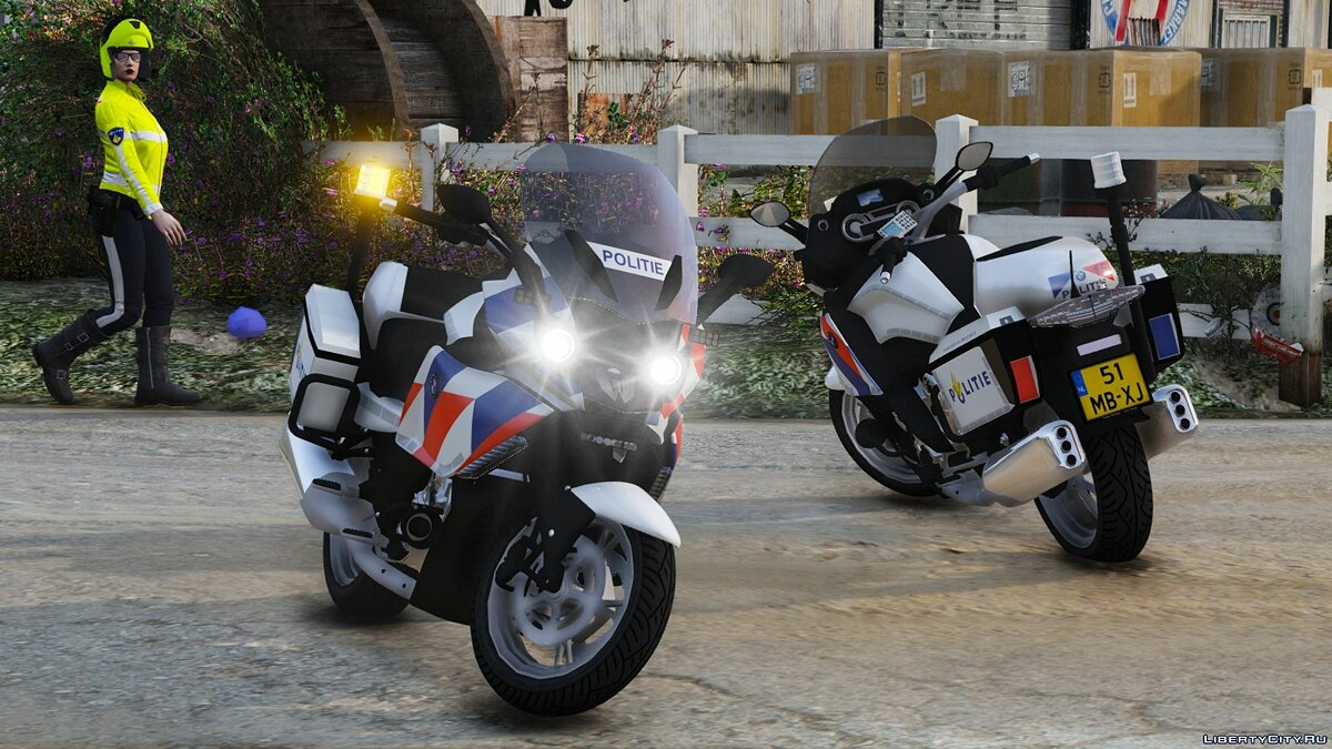 Мотоцикл BMW K 1600 GTP Dutch Police [ELS] 1.1 для GTA 5
