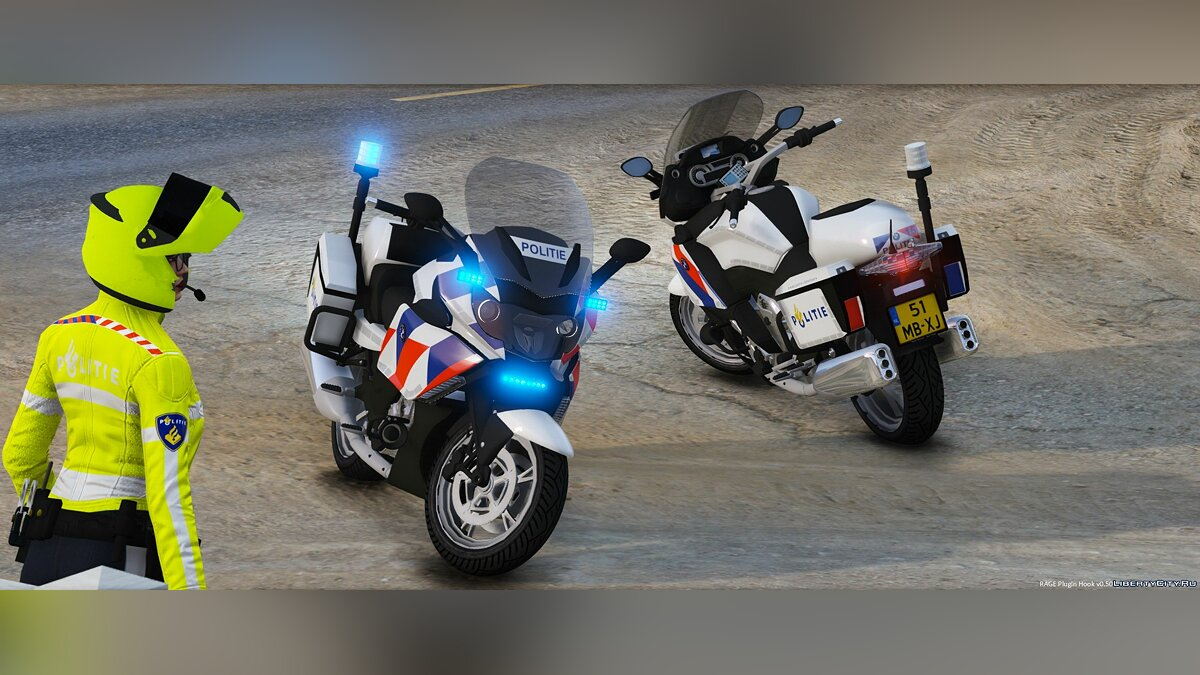 BMW K 1600 GTP Dutch Police [ELS] 1.1 для GTA 5 - скриншот #6