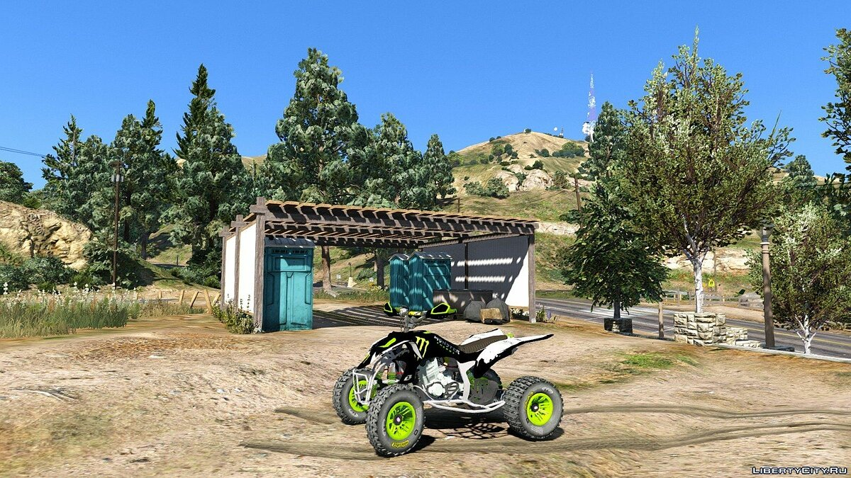 Yamaha YZF 450 ATV - Monster Energy для GTA 5 - скриншот #3