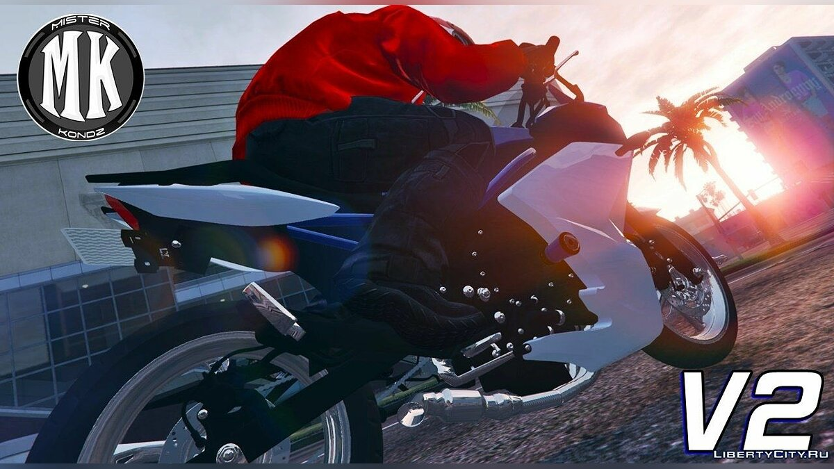 ��отоцикл Yamaha XJ6-F (3 Versions) для GTA 5