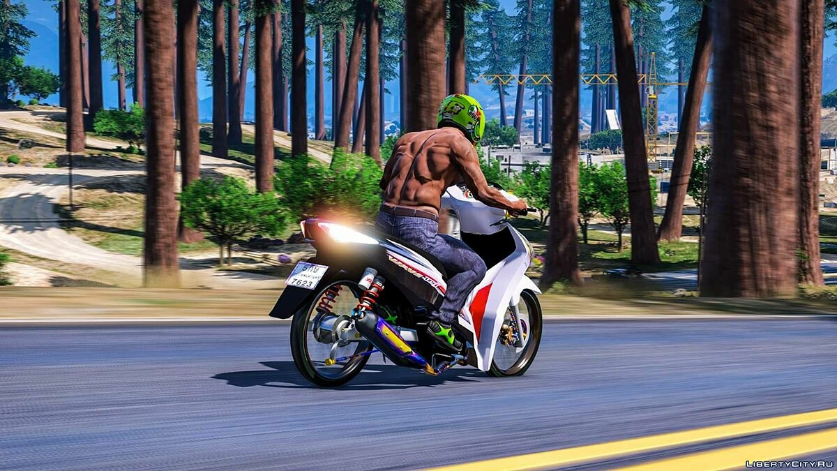 Мотоцикл Honda Wave 125i 2015 v.2 (add-on) 2.0 для GTA 5