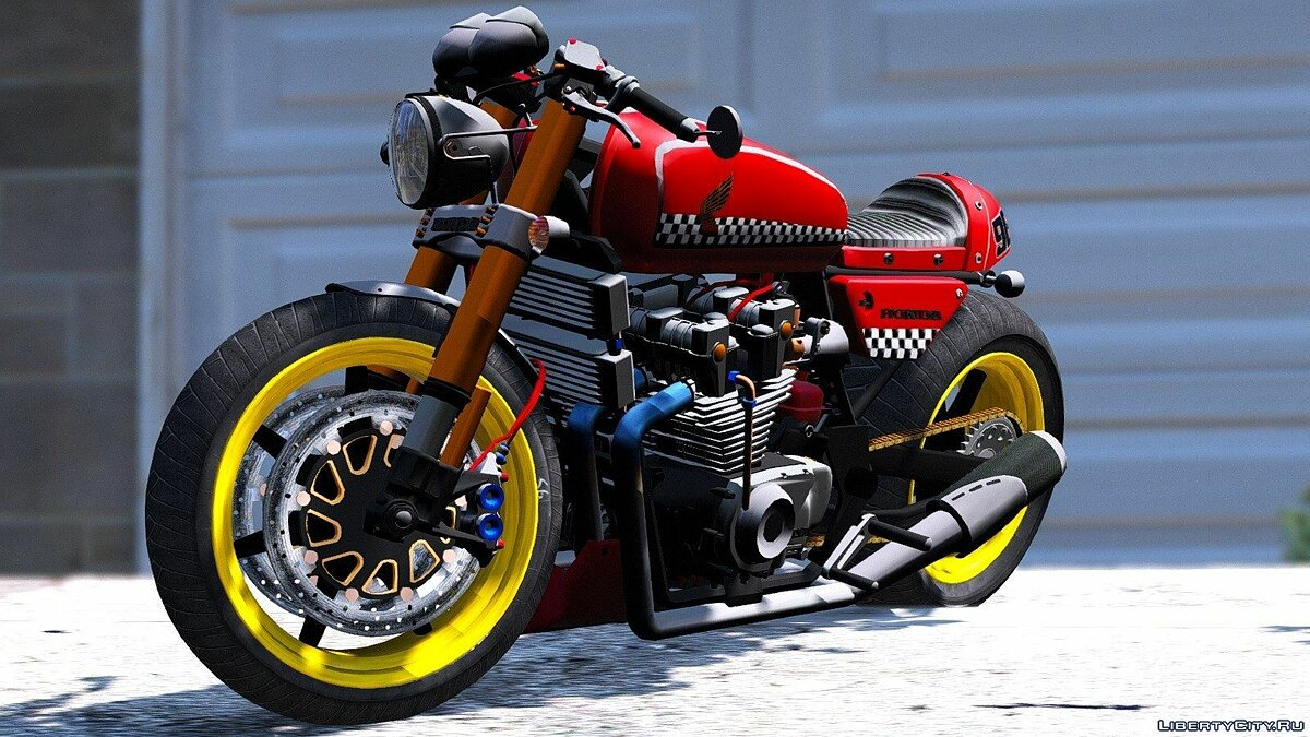 Honda CB750 Cafe Racer [Animated] 1.0 для GTA 5 - скриншот #4