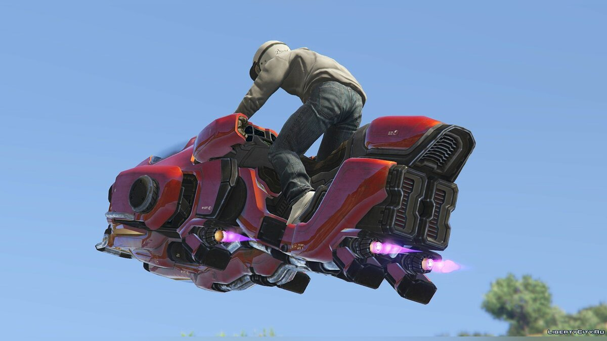 Sci-Fi Hover Bike [Add-On / Replace Test | Livery] 1.0.1 для GTA 5 - скриншот #3