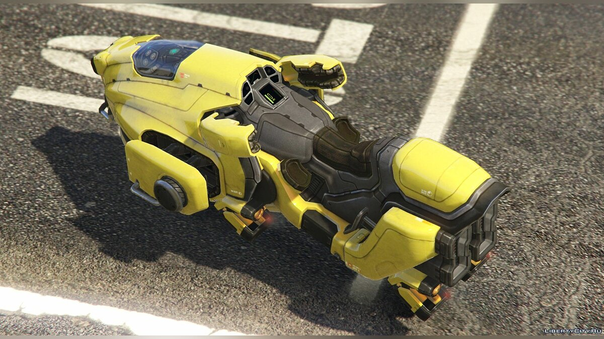 Sci-Fi Hover Bike [Add-On / Replace Test | Livery] 1.0.1 для GTA 5 - скриншот #4