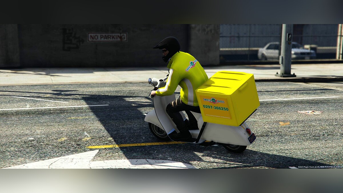 Мотоцикл Pizza Scooter 1.0 для GTA 5