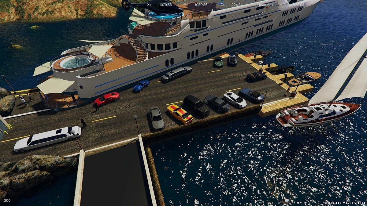Underwater Mafia Headquarters (Nightclub Yacht coverup) 1.0 для GTA 5 - скриншот #7