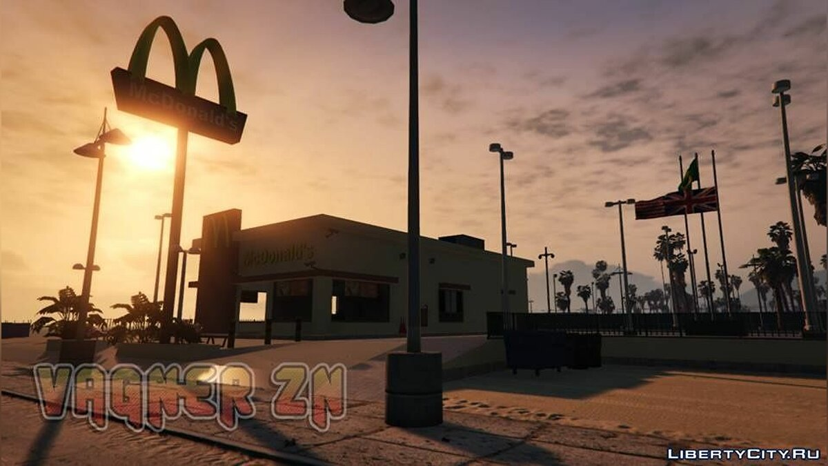 Новый объект McDonald's Add-on 1.0 - Ресторан Макдональдс для GTA 5