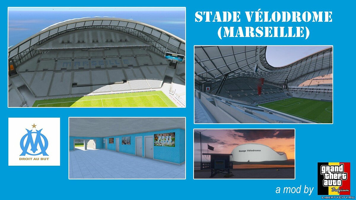 Новый объект Stade Orange Vélodrome Marseille (Soccer Stadium) 1.0 для GTA 5