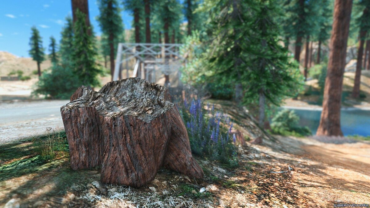 ��овый объект Forests of Chiliad (Redwood,Cedar trees+Cabin) [Add-On | YMAP] для GTA 5